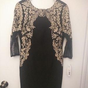 Antonio Melanie black and gold dress